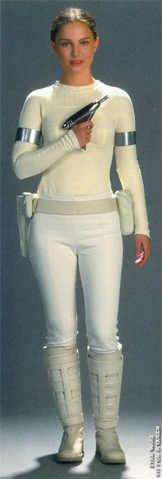 Natalie Portman as Padme Amidala production picture from Star Wars Attack of The Clones