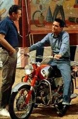 Elvis on the set of Roustabout.
