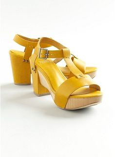 This shoe made me drool and gasp. I don't know what I would wear them with, but yellow wedges = in for spring!