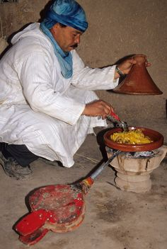 Preparing Lunch in the kasbah . Morocco