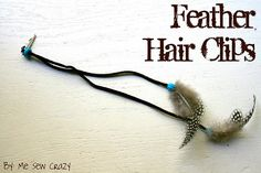 DIY Feather hair clips.