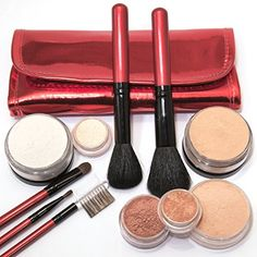 IQ Natural Large Mineral Makeup Kit 12pc (MEDIUM shade) - Concealer, Bronzer, Eye Shadow, Setting Powder, 2 Full Size Mineral Foundation - Create A Natural Flawless Look ... >>> Want to know more, click on the image.