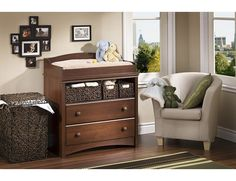 South Shore Heavenly Changing Table Royal Cherry #baby #gettington