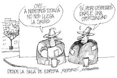 """Presentamos nuestra caricatura: """"Desde la sala de espera"""""""