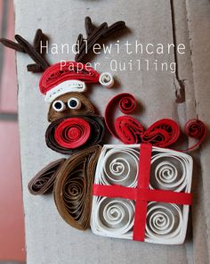 quilling christmas Decorazioni Natalizie -Handlewithcare paper quilling