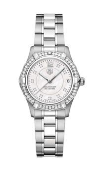 TAG-Heur Ladies Watch With A Diamond Bezel 32mm Mother-of-Pearl Dial. Great For Graduation or Mother's Day! Hollis & Company