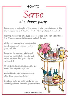 How To Serve At A Dinner Party These Tips Would Come In Handy For The Banquet