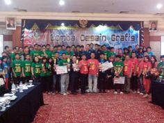 Peserta dan para juara lomba maskot LPI Desain Grafis bagi mahasiswa se-Kepulauan Riau yang diselenggarakan tanggal 12 Desember 2012 di Batam.