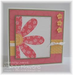 Mainly Flowers Independent Stampin' Up! Demonstrator Joanne Gelnar Pink Petals, Flower Cards, Scrapbooking Layouts, Birthday Cards, Happy Birthday, Stampin Up, Stamp Sets, Paper Craft, Card Ideas