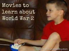 movies to learn about world war 2 - by suggested age range. From @Ticia Adventures in Mommydom