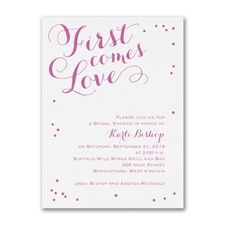 First Comes Love - Bridal Shower Invitation