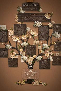 Your guests will adore this charming seating chart.