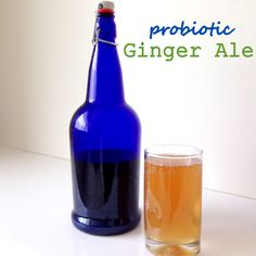 Jill from First Comes Health guest posts with us today and shares a recipe for fermented Probiotic Ginger Ale