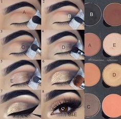 Eyeshadow tutorial – Glitz and Glamour Makeup Eyeshadow tutorial Eyeshadow tutorial Makeup 101, Makeup Hacks, Makeup Inspo, Makeup Brushes, Beauty Makeup, Hair Makeup, Eye Brushes, Makeup Geek, Makeup Ideas