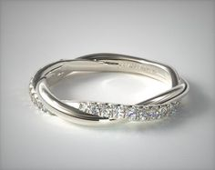 Matching Pave Wedding Ring | 14K White Gold | James Allen  | 15151W14 - Mobile