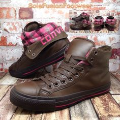 9c34fd0f96b169 Converse Womens All Star Leather Trainers Brown sz 7 Shoes Boots Ladies US 9  40