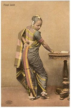 Final Look - Post Card of a Maharashtrian Woman - Old Indian Photos