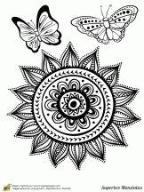 superbes mandalas soleil et papillons