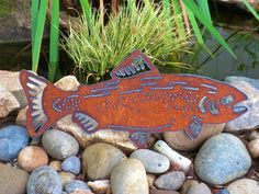 Metal Art Fishing Gift Floatin' Trout Outdoor by FoothillMetalArt, $35.00