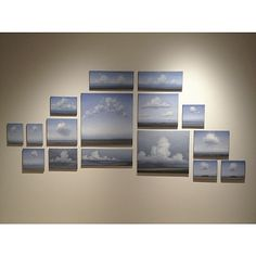 Christopher Rådlund - Skies and clouds. Arrangement with sixteen paintings. All oil on canvas. - Hengt ferdig utstilling i Oseana / Griegsamlingen i Os (sør for Bergen). Åpner imorgen lørdag 9 april kl 14.00. Hjertelig velkommen! - #osøyro #oseana #griegsamlingen #clouds #oiloncanvas #oljepålerret #oljapåduk #arrangement #landscapepainting #cloudpainting #moln #skyer #cumulus #molnmålning #skymaleri #wallinstallation #vegginstallasjon #vägginstallation