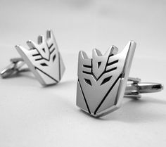 Transformer Cufflinks- Decepticon Megatron, Copper Plated Silver, with a Gift Box
