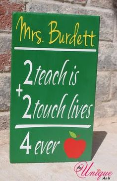 Personalized Teacher Sign