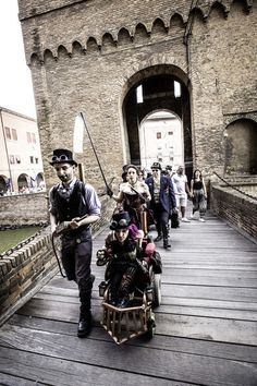My darling and me Steampunk Nord-Est Italia at FeComics and Games, Ferrara, Italy photo by ScreenWEEK Cosplay