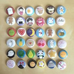 set of ten assorted kawaii badges by asking for trouble | notonthehighstreet.com