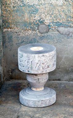 United // NewspaperWood stool by Tessa KuyvenhovenImage Courtesy of Vij5