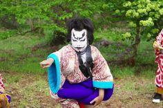 09 Akita Hachirogata town Child Gannin Dance 2015 2015年5月5日 八郎潟町 一日市神社 子供願人踊り