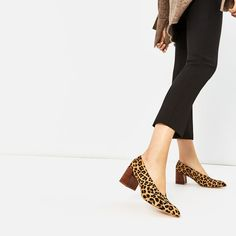 Image 1 of PRINTED LEATHER HIGH HEEL SHOES from Zara
