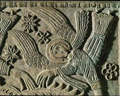 Detail of the altar of Lombard King Ratchis showing angel.   8th Century.