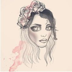 """""""Fiona by our Amazing artist and best friend Miomo""""  #Rebecca_and_fiona #edm #illustration #miomo #music #art #swedish #dj #female_dj"""