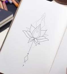 graphic lotus flower