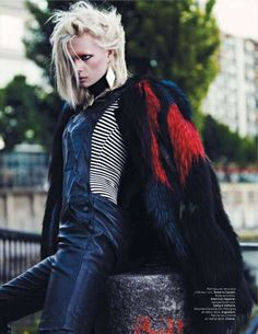 Punkish Alley Editorials - This Editorial Features Punk Looks, Grungy Backgrounds and Bright Colors (GALLERY)