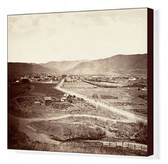 """20""""x16"""" (50x40cm) Box Canvas Print. San Luis Obispo, 1876, printed ca. 1876. century, location, california, rocky, albumen photograph, watkins, carleton e watkins, carleton emmons watkins, watkins carleton emmons, carleton emmons, san luis obispo, san luis obispo california united states of america. Image supplied by Heritage Images San Luis Obispo California, San Luis Obispo County, California Dreamin', San Luis Obispo Restaurants, Travel The World For Free, Places In America, Tourist Places, Pacific Coast, Heritage Image"""