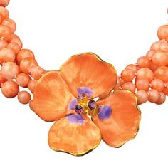 Russian Imperial Pink Pansy Necklace - Necklaces - Jewelry - The Met Store