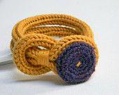 Tweed light grey knitted wool yarn bracelet Noemi, handmade japanese fabric flower button, tied up, yarn jewelry. via Etsy. Yarn Bracelets, Crochet Bracelet, Pandora Bracelets, Textile Jewelry, Fabric Jewelry, Spool Knitting, Crochet Buttons, Japanese Fabric, Diy Crochet