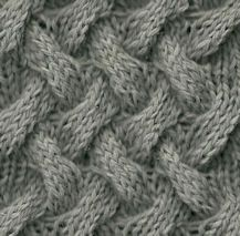 KNITTING: Basket Cable stitch.