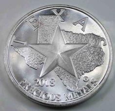 USA 2018 Texas Precious Metals Silver Round Silver 1 Oz [1622
