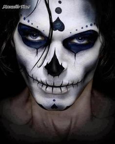 Halloween Skeleton makeup with some incorporated sugar skull makeup features. Halloween Men, Halloween Face Makeup, Halloween Ideas, Halloween Costumes, Halloween Halloween, Vintage Halloween, Halloween Images, Facepaint Halloween, Scarecrow Makeup