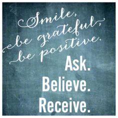 Be grateful. Be positive. #bobproctor #sandygallagher #proctorgallagherinstitute
