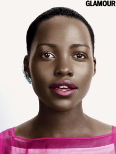 Lupita does a deep-wine lip (yes, you can still wear dark lipstick for spring)
