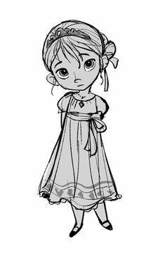 "arkhane: ""Disney concept art: Young Elsa and Anna and Elsa from Frozen. Art by Jin Kim "" Character Design Disney, Kid Character, Character Design Animation, Character Design References, Character Drawing, Character Illustration, Disney Concept Art, Disney Art, Walt Disney"