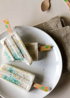 cake popsicles - but i would make without the blue dye in the cake!!