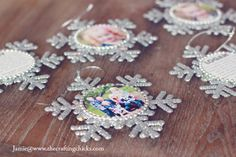 Snowflake Photo Ornaments