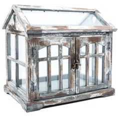 Gray, Brown & White Wood Terrarium with 2-Doors