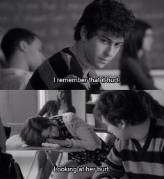 """""""I remember that it hurt, looking at her hurt."""" -Rusty played by Nat Wolff in Stuck In Love."""