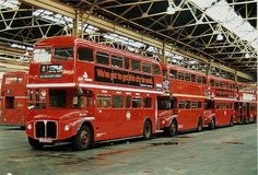 Bow bus garage with Routemaster busses