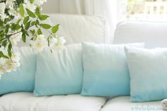 Dye Dipped Pillows...so PRETTY